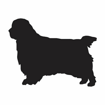 Clumber Spaniel Dog - Vinyl Decal Sticker - Multiple Color & Sizes - ebn1937