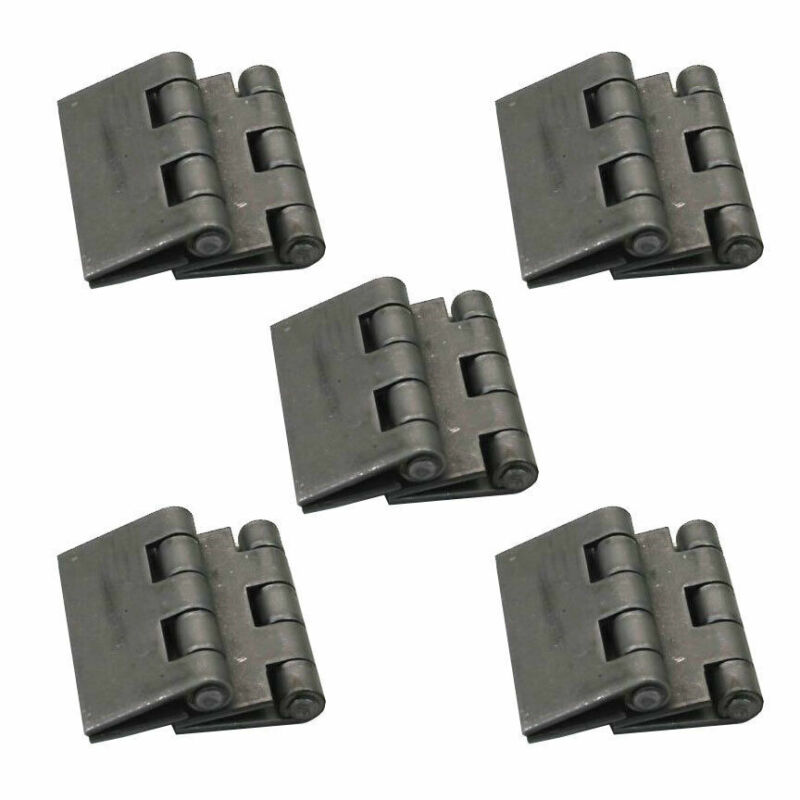 """5 Pairs of Heavy Duty Weldable Butt Hinges 3"""" x 3"""" - Steel Butt Hinges"""