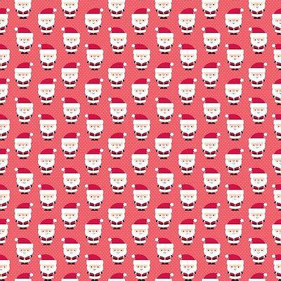 Santa Express Santa Claus Red, Doodlebug Designs for Riley Blake, 1/2 yd fabric