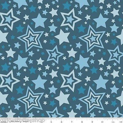Navy Sterne (REST Stars Navy Sterne Blau Patchworkstoff Baumwollstoffe Stoff Kinder Patchwork)
