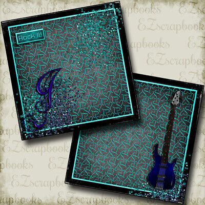 Rock Star NPM - 2 Premade Scrapbook Pages - EZ Layout (Rockstar Page)