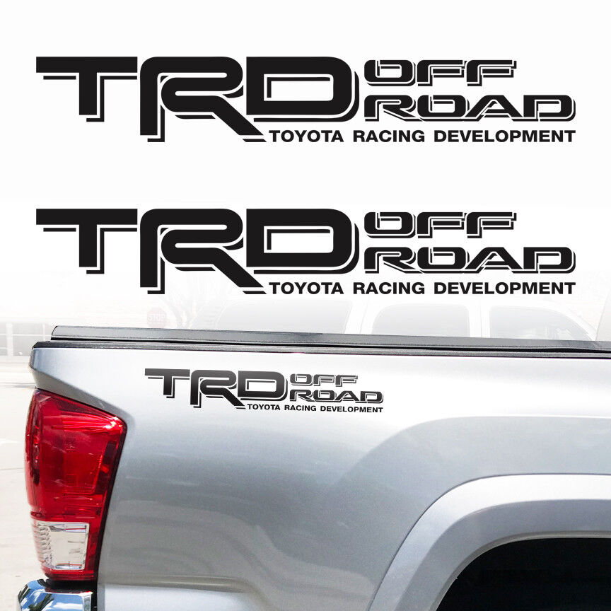 TRD Off Road Toyota Tacoma Tundra Decals Sticker Truck bedside decal 2Decals c1 Matte Black
