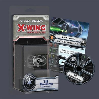 Star Wars X-Wing Miniatures Game Expansion pack  Tie Advanced   NEW