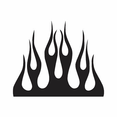 Fire Splash Flames - Vinyl Decal Sticker - Multiple Color & Sizes - ebn1331 - Fire & Flames