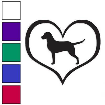 Chesapeake Bay Retriever Sticker - Chesapeake Bay Retriever Heart Decal Sticker Choose Color + Large Size #lg1438
