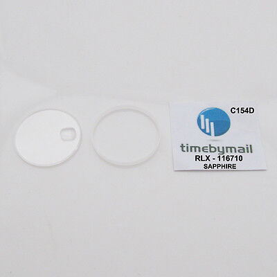 For ROLEX 116710 GMT Master II Oyster Perpetual Sapphire Watch Crystal C154D