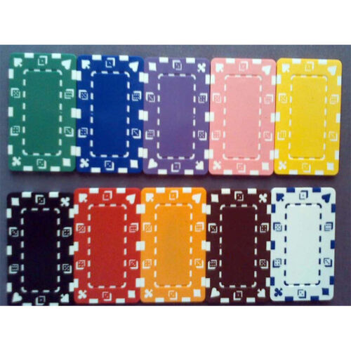 25 poker chip plaques choice of 10 colors