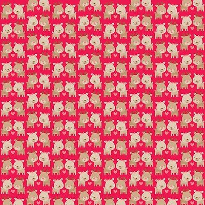 Home For the Holidays Deer Red, Doodlebug Designs for Riley Blake, 1/2 yd fabric