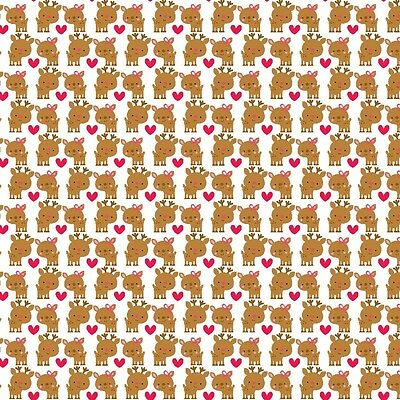 Santa Express Deer Multi by Doodlebug Designs for Riley Blake, 1/2 yard fabric