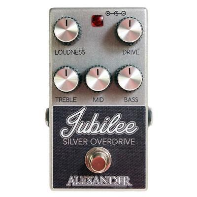 Alexander Pedals Jubilee Silver Overdrive Electric Guitar Effects Pedal