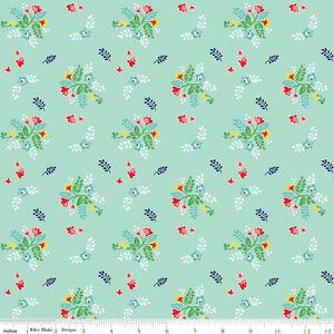Riley-Blake-Vintage-Market-Verde-Floral-Tela-De-Algodon-Para-Patchwork-Qu