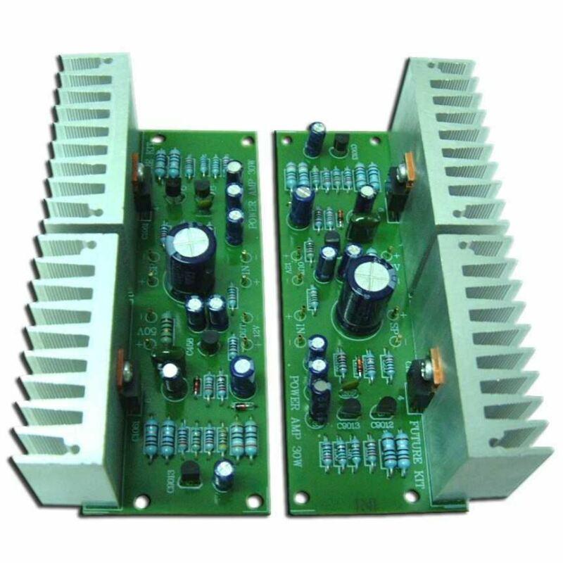 Future Kit Stereo Audio Amplifier DIY kit 30+30W Gain Solder 12V Flux Workshop