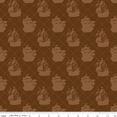 Pirate Matey (Pirate Matey's Brown Ship by Emily Taylor Designs for Riley Blake, 1/2 yd fabric)