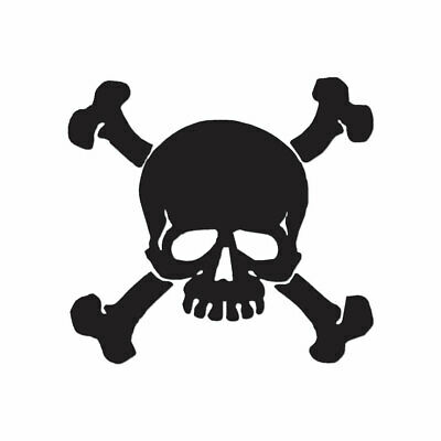 Skull Crossbones Pirate - Decal Sticker - Multiple Color & Sizes - ebn991 Skull Crossbones Pirate