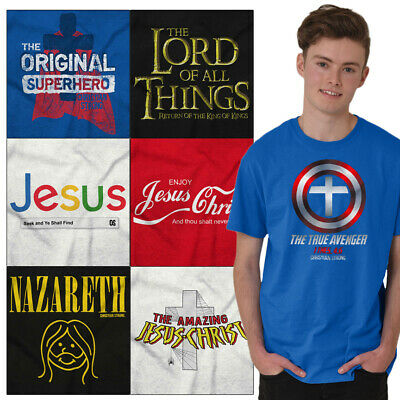 Christian Tee Shirt Religious T Shirts For Mens Pop Culture Novelty Gift Tshirts - Religious Novelties