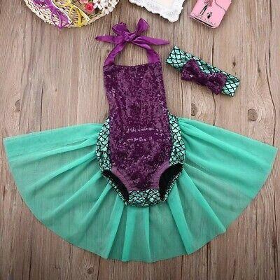 Disfraz Disney Halloween (Disfraz Sirenita niña. 19-24 meses. Princesa Disney. Carnaval o)
