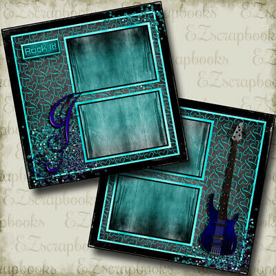 Rock Star - 2 Premade Scrapbook Pages - EZ Layout (Rockstar Page)