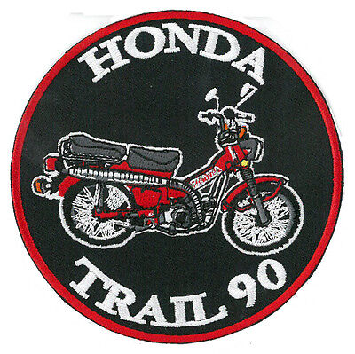 Honda Trail 90 (CT-90) 4 inch embroidered patch RED CT90