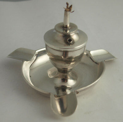 Rare Solid Silver Table Lighter & Ashtray Combination - Birm 1925
