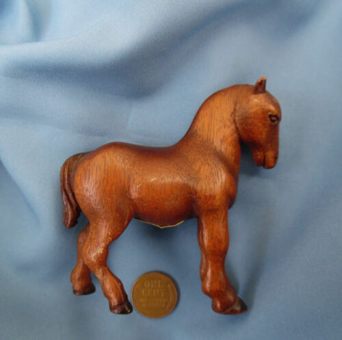 ANTIQUE HORSE CARVED WOOD FIGURE  ca.1942