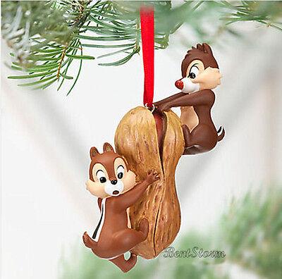 "NYA Disney Store CHIP AN ""DALE JORDEKORRE PEANUT julhelgdag prydnad 2012"