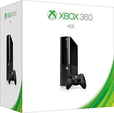 Microsoft Xbox 360 E 4GB Console, Black, 4 GB Brand New