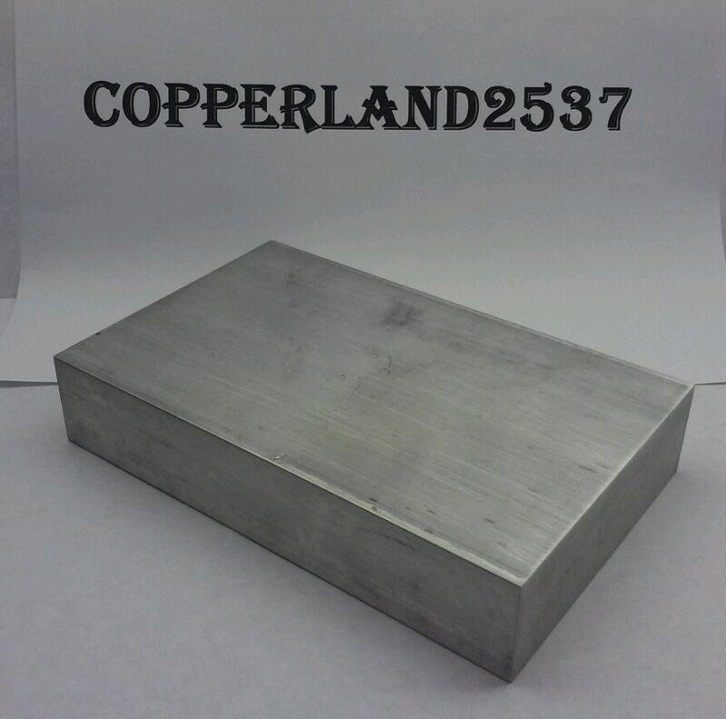 "1.25"" X4"" X 4"" long new 6061 solid aluminum stock plate flat bar cnc block 1-1/4"