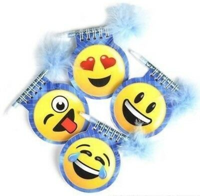 Emoji Notepads With Pen / Party Favor/ Gift/Giveaway (Pack Of 12) - Emoji Pens