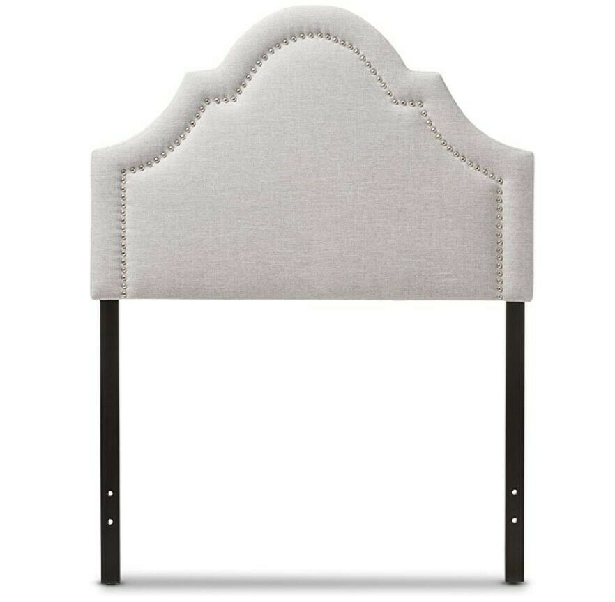 Remi Modern and Contemporary Greyish Beige Fabric Upholstere