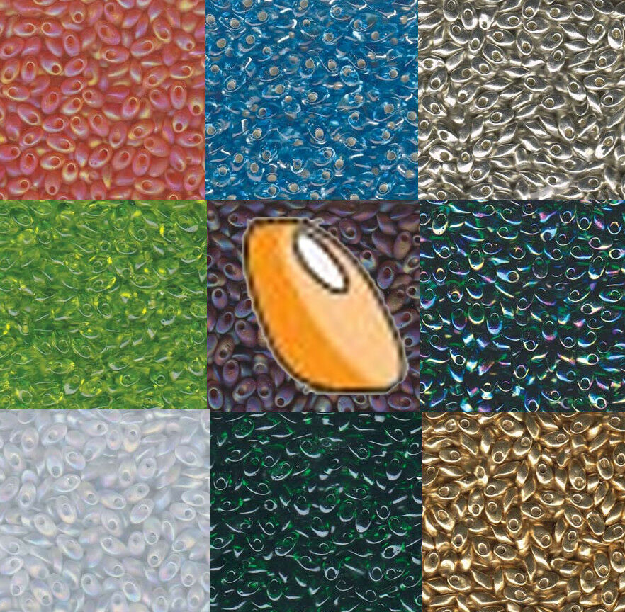 4x7mm Long Magatama Japanese seed beads Trans Picasso Lt Smoky Topaz-25grams