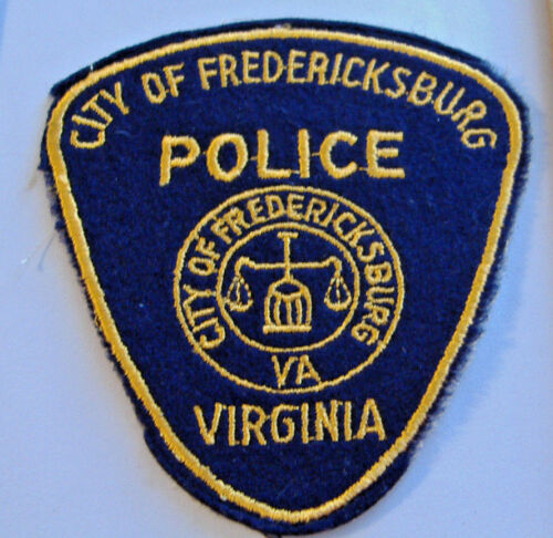 CITY OF FREDERICKSBURG~VIRGINIA POLICE~FABRIC PATCH~CHEESECLOTH BACK