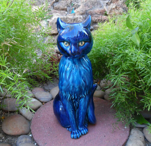 MID CENTURY CAT MOOD INDIGO BY INARCO FIGURINE SCULPTURE CERAMIC SERIES JAPAN
