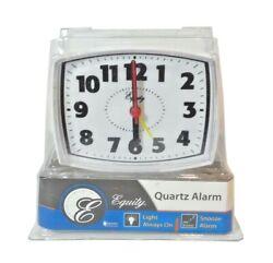 Snooze Alarm Clock Light Always Lighted Dial Equity By La Crosse Quartz Alarm