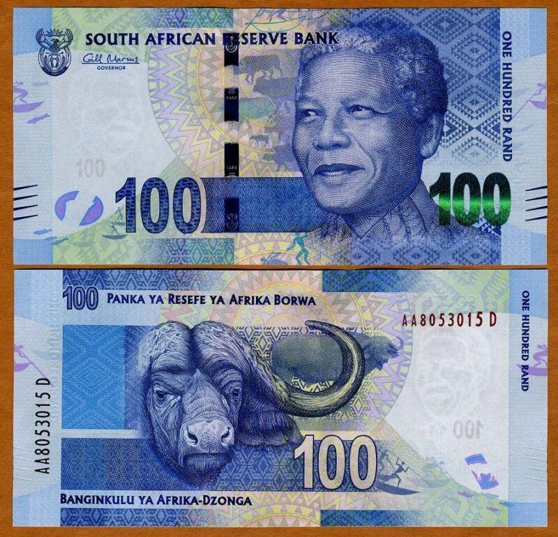 South Africa, 100 rand, ND (2012), P-136, UNC > Mandela, Buffalo