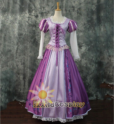 Rapunzel Costume Tangled Cosplay Dress Princess Adult Fancy Ball Gown Halloween](Adult Tangled Costumes)
