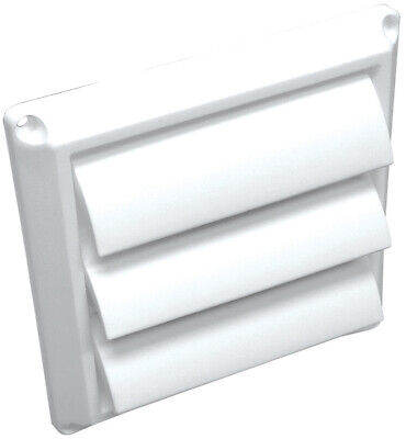Plastic Louvered Dryer Vent Cap 4 Inch Louvers Keep Out Unwa