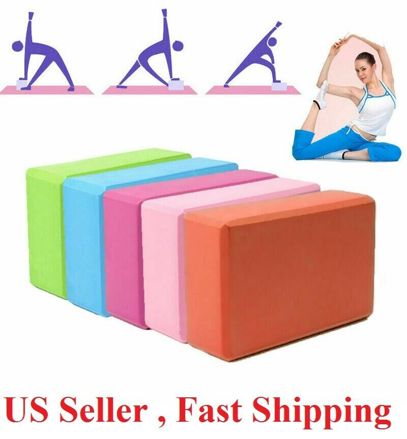 Yoga Block Foam Brick Stretching Aid Gym Pilates For Exercise Fitness Fitness, Running & Yoga