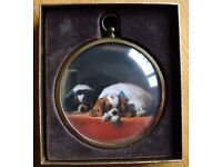 Peter Bates Miniature Collection - 'King Charles Spaniels'