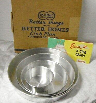 Vintage Mirro Aluminum Four Tier Cake Pan Set - Better Homes Club