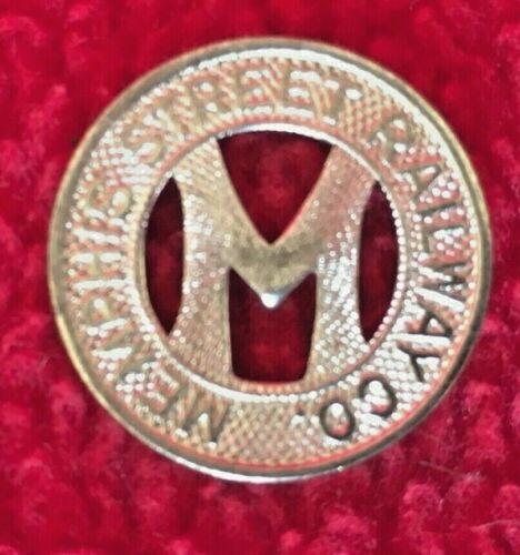 Vintage Memphis Tenn Tn Railway Railroad Trolly Fare Token Trade Coin Train NOS