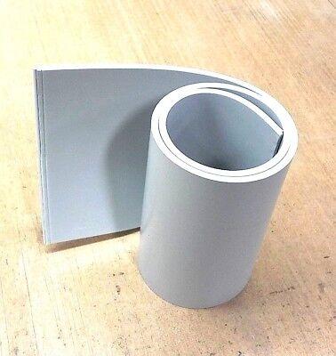 Silicone Rubber Sheet 14thk X 6 X 18 Rect Strip -us Mil Spec 60 Duro Gray