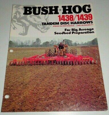 Bush Hog 1438 1439 Tandem Disc Harrow Sales Brochure Literature Disc Bh-35