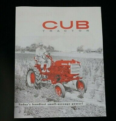Ih Mccormick Farmall Cub Tractor W Fast Hitch Color Dealer Brochure Booklet