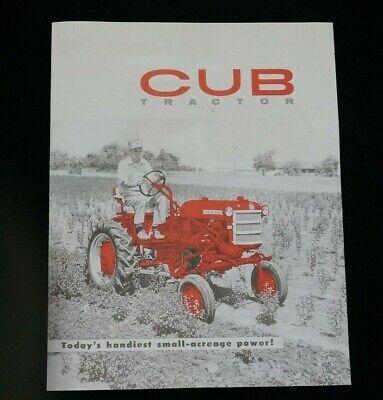 Ih Mccormick Farmall Cub Tractor W Fast Hitch Color Dealer Brochure Booklet