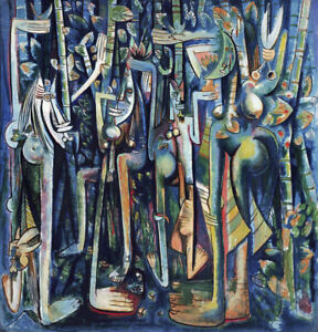 The Jungle  by Wifredo Lam   Giclee Canvas Print Repro