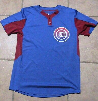 Chicago Cubs Majestic Baseball Pullover Jersey Cool Base Batting Practice Med