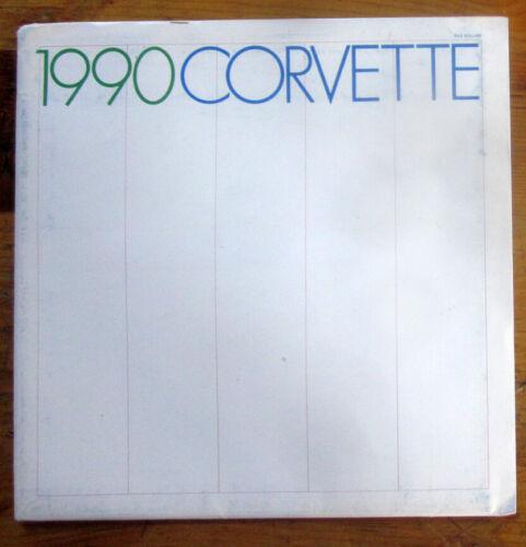 1990 Chevrolet CORVETTE Sales Catalog  SEALED