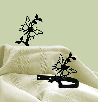 - Wrought Iron Curtain Tie Backs Pair Of 2 Butterfly Silhouette Window Treatments