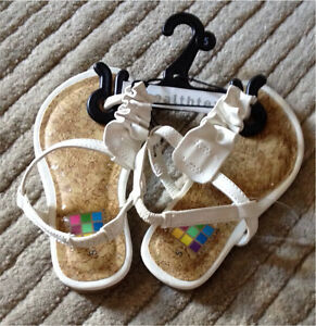 Baby Girl Clothes- Baby Girl Thong Sandals (size 5)