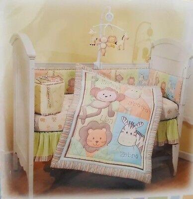 Summer Pals Lyon Giraffe Monkey Zebra JUNGLE 4 Piece Nursery Crib Bedding Set Dora The Explorer Crib Bedding